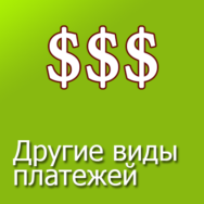 Другие виды платежей